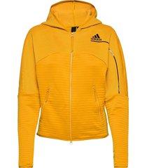 w zne a h c.rdy hoodie trui geel adidas performance