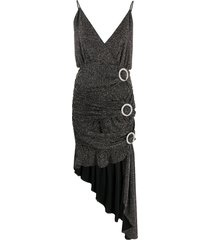 for love and lemons crystal buckle dress - black