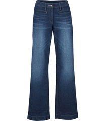 jeans a zampa con cinta comfort (blu) - bpc bonprix collection