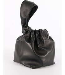 jil sander drawstring bag black