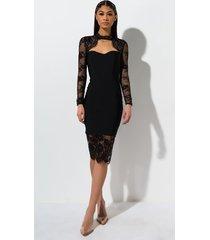 akira love me love me lace midi dress