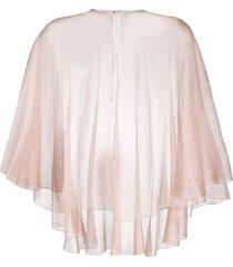 maria lucia hohan semi-sheer cape - pink
