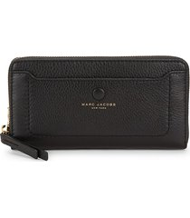 marc jacobs women's empire city leather continental wallet - black