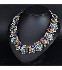 famous shining women pendants chunky crystal maxi rhinestone statement necklace
