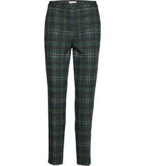 crop leisure trouser byxa med raka ben grön gerry weber edition