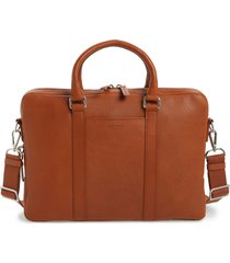 men's shinola signature leather computer briefcase - metallic