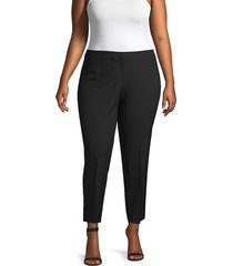 lafayette 148 new york women's plus stretch ankle pants - black - size 24w