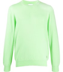 barrie round neck cashmere pullover - green