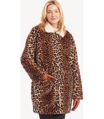 sanctuary women's sierra coat in color: leopard/sherpa size xs from sole society