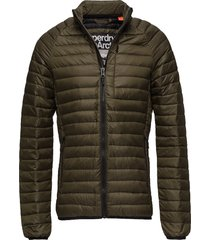 core down jacket gevoerd jack groen superdry