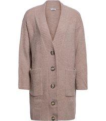 cardigã de tricot com botões isabella fiorentino para oqvestir - cinza