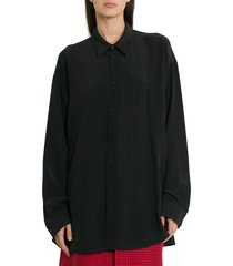 balenciaga silk crepe signature shirt