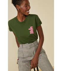 t-shirt amaro we make our own way verde militar - verde - feminino - dafiti