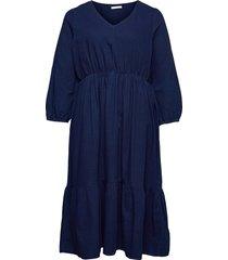 joelle knälång klänning blå violeta by mango