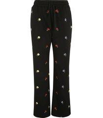 red valentino drawstring waist floral track pants