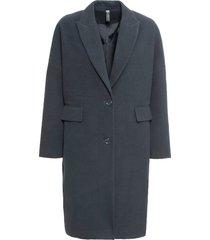cappotto in simil lana modello a uovo (blu) - rainbow