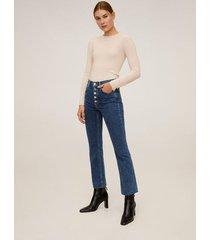 bootcut jeans met knopen