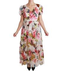 butterfly padlock floral maxi jurk