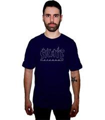 camiseta manga curta skate eterno azul marinho - kanui