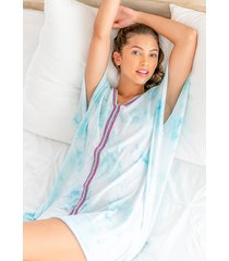 pitusa tie dye mini abaya kaftan light blue