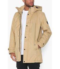 only & sons onsfavour walther parka jacket otw jackor ljus brun