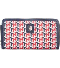 tommy hilfiger julia cube print nylon zip wallet