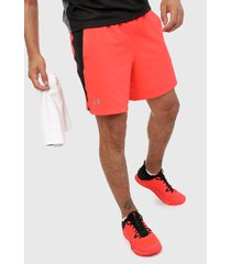 pantaloneta rojo-negro under armour short launch