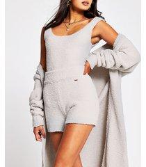 river island womens grey fluffy ri shorts