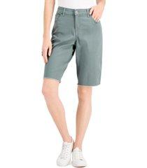 style & co raw-hem bermuda shorts, created for macy's