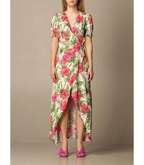 mc2 saint barth dress mc2 saint barth long dress with floral pattern