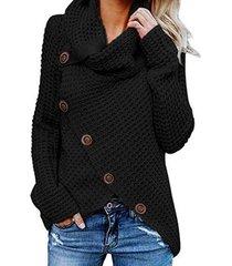 jersey de cuello alto y abrigo de punto