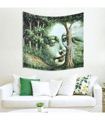 150cm x 130cm hada del bosque pared de colgante de la tapicería de bohemia hippie banda colcha decoración - 3