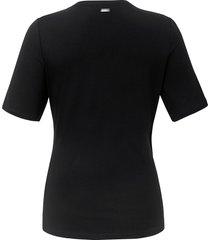 shirt v-hals in wikkelstijl van emilia lay zwart