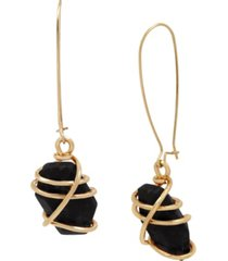 robert lee morris soho caged stone long drop earrings