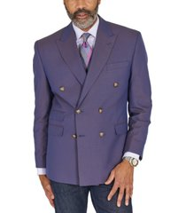 tayion collection men's classic-fit blue & tan jacquard double-breasted dinner jacket