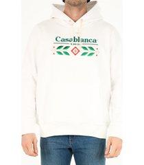 casablanca white cotton hoodie