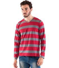 camiseta konciny decote v vermelha