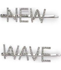 amaro feminino kit grampos new wave, prata