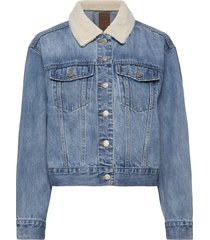 dolman denim sherpa icon jacket jeansjacka denimjacka blå gap
