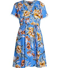 claribel floral wrap dress