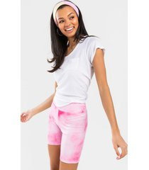 darlah high waist tie-dye biker shorts - pink