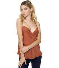 blusa marrón asterisco auckland
