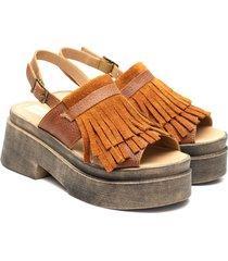 sandalia de cuero suela valentia calzados leandra