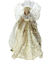 "northlight 16"" lighted fiber optic angel in golden sequined gown christmas tree topper"