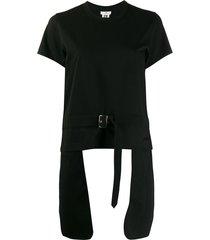 comme des garçons noir kei ninomiya elongated-pocket belted t-shirt -