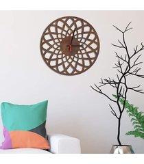 relógio de parede decorativo premium mandala vazado corten médio