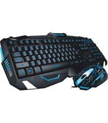 combo gamer multilaser teclado + mouse iluminacao led com fio tc195