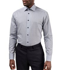 men's eton slim fit geometric dress shirt
