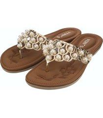 pantofole piatte infradito donna casual comode perle