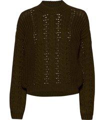 loviana knit pullover gebreide trui groen minus